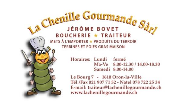 Logo de l'entreprise : La Chenille Gourmande Sàrl